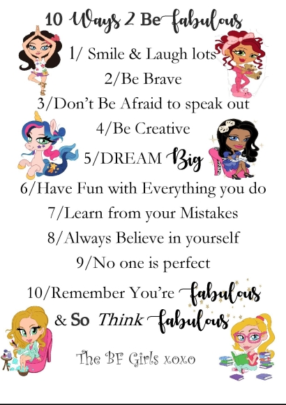 Be fabulous girls poster sell-page-001